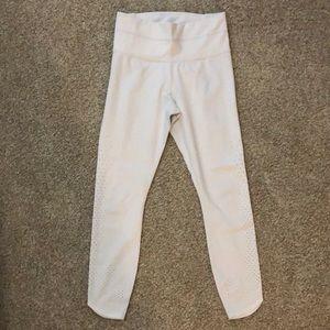 White Athleta 7/8 Yoga Pants